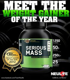 ON Serious Mass- this stuff is legit Product Ads, Gym Time, Protein, Boards, Canning, Motivation, Fitness, Planks, Gymnastics