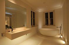 bathroom with mysterious romantic light