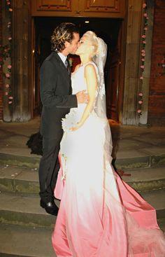 Gwen Stefani wedding dress- you could do dip dye like your girl!