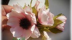 МК Как сделать розу с плоским основанием. - YouTube