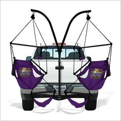Trailer hitch double hammock/swing chair stand... How awesome is that?!  **This one links to the store... So much LSU stuff!!**