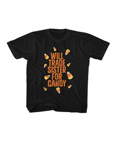 Look what I found on #zulily! Black 'Will Trade Sister' Tee - Toddler & Kids #zulilyfinds