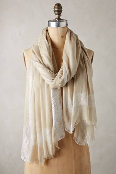 Shimmer Striped Scarf #anthrofave #anthropologie
