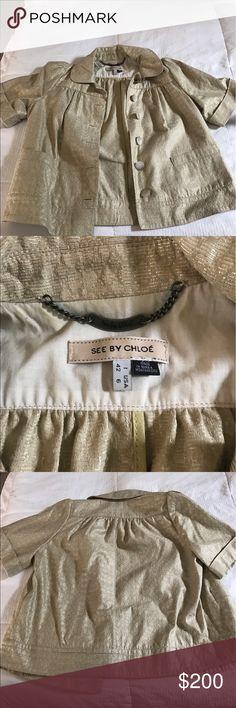 See by Chloe Jacket Super cute, See by Chloe shimmery gold jacket See by Chloe Jackets & Coats