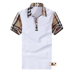 cheap discount Burberry Men Short Sleeve Polos SNBURSPOM161 [$26.00] Burberry Shirt, Burberry Men, Suit Fashion, Mens Fashion, Fashion Outfits, Casual Wear, Men Casual, Mother Daughter Fashion, Camisa Polo