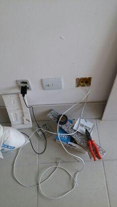 Passagem de cabo de rede por todo AP. Pontos de rede para uso da rede por cabo. 1000x melhor que wifi.