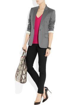 Stella McCartney|Iris tailored wool-twill blazer|NET-A-PORTER.COM