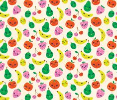 Cute Fruit fabric by irrimiri on Spoonflower - custom fabric