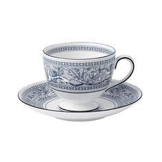 Florentine Indigo White Cup & Saucer / Wedgwood