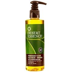 Desert Essence, Thoroughly Clean Face Wash - Original, Oily and Combination Skin Organic Tea Tree Oil, Tea Tree Oil For Acne, Clean Face Wash, Skin Peeling On Face, Oils For Dandruff, Desert Essence, Combination Skin Care, Face Scrub Homemade, Skin Toner