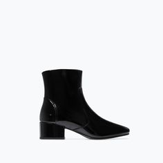 Image 1 of HIGH HEELED PATENT BOOTIE from Zara