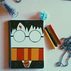 , , Are you bored of your notebook for school? Here I will teach you to make a Harry Potter book very ...