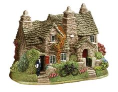 lilliput lane - Lilliput Lane Tintagel Old Post Office Cottage Little Cottages, Little Houses, Old Post Office, Ceramic Houses, Home Candles, Tiny Treasures, Miniature Houses, Collectible Figurines, Fairy Houses