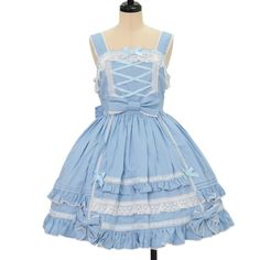 ♡ Angelic pretty ♡ Light blue jumper skirt http://www.wunderwelt.jp/products/detail11013.html ☆ ·.. · ° ☆ How to order ☆ ·.. · ° ☆ http://www.wunderwelt.jp/user_data/shoppingguide-eng ☆ ·.. · ☆ Japanese Vintage Lolita clothing shop Wunderwelt ☆ ·.. · ☆