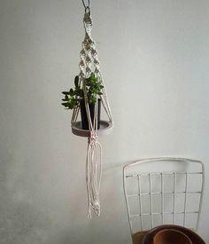 Small macrame plant hanger by FisherKing  https://www.etsy.com/au/listing/536265692/spiral-sinnet-macrame-plant-pot-holder