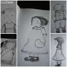 Doll sketches by Lilla Kirrivi