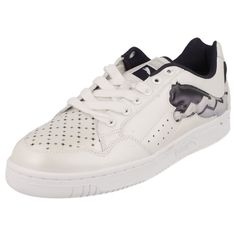 ADULT PUMA TRAINERS WHITE /NIGHT SHADE  STYLE- PUMA CAT LO EASTER /349531 02