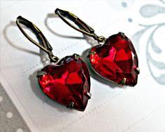 Romantic Vintage Ruby Glass