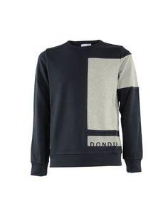 DONDUP Dondup Blue Patch Gehrig Sweatshirt. #dondup #cloth #fleeces-tracksuits