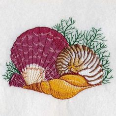 Seashell Summer Holiday Machine Embroidery Design by embhome, $3.99