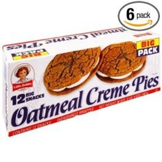 Little Debbie Oatmeal Creme Pies, Big Pack: calories, nutrition analysis & Oatmeal Creme Pie, Oatmeal Bread, Starbucks Vanilla, Butterfly Cakes, Butterfly Snacks, Everyday Food, Learn To Cook, Junk Food, Snack Recipes