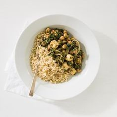 Indian Saag with Chickpeas - EatingWell.com