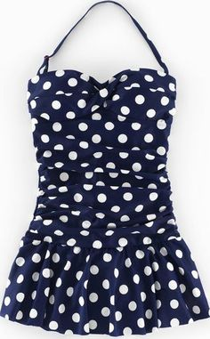 Boden Sorrento Skirt Swimsuit Sailor Blue Spot Boden, Your ever-favourite Sorrento Swimsuit gets a whole new look with a retro skirt and some supremely flattering ruching. Multi-way straps let you wear it any which way. http://www.comparestoreprices.co.uk/january-2017-9/boden-sorrento-skirt-swimsuit-sailor-blue-spot-boden-.asp