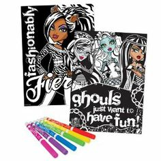 Monster High Velvet Poster Collection by Monster High. $9.57. Customize your velvet poster with the 6 included markers. Poster collection includes 6 velvet posters in creeporific Monster High designs. Markers stored in zippered pouch and attached to kit so your favorite artist materials are always close by. Say goodbye to boring velvet art and decorate your favorite spaces with these freaky fabulous posters. Great activity for you and your friends. From the Manufacturer          ...
