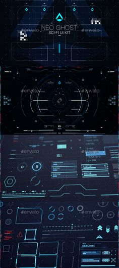 Neo Ghost - Sci Fi UI / HUD Kit (User Interfaces)