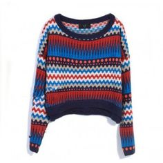 Retro Totem Temperament Bat Sleeve Knit &Sweater for only $35.00 ,cheap Sweaters & Cardigans - Clothing & Apparel online shopping, Retro Totem Temperament Bat Sleeve Knit &Sweater