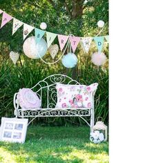 French park bench seat First Birthday Parties, 3rd Birthday, First Birthdays, Ballerina Party, Little Ballerina, Prop Hire, Alice In Wonderland Party, Bench Seat, Tutu