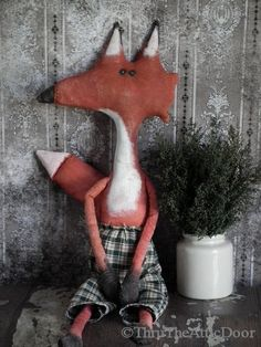 Primitive Folk Art Fox $5.00