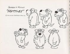 Hanna-Barbera Wacky Races model sheet, 1970 ★ || CHARACTER DESIGN