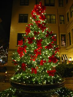 greenery white lights and red velvet bows christmas perfection 3 christmas in