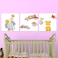 Παιδικοί πίνακες σε καμβά Cute Animals