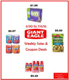 Giant Eagle Weekly Ad Coupon Matchups | 6/30 to 7/6/16 - Frugal Minded Mom