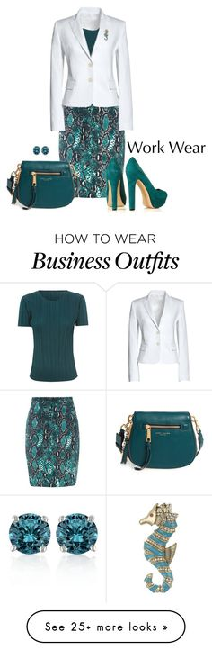 """WORK WEAR"" by arjanadesign on Polyvore featuring Canvas by Lands' End, Pleats Please by Issey Miyake, Marc Jacobs, Belk & Co., Betsey Johnson, WorkWear, marcjacobs and landsend"