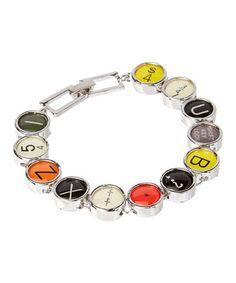 Loving this Silvertone Vintage Typewriter Keys Bracelet on #zulily! #zulilyfinds
