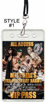 Printable wwe birthday party invitations photo invite wrestling wwe vip passes with lanyards invitations filmwisefo