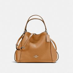 COACH - EDIE SHOULDER BAG 28 IN POLISHED PEBBLE LEATHER
