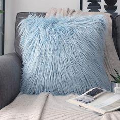 Light Blue Throw Pillows, Blue Throws, Blue Pillows, Decorative Throw Pillows, Cheap Throw Pillows, Soft Pillows, Blue Room Decor, Blue Bedroom, Dream Bedroom