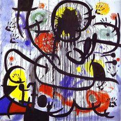 Joan Miró, May 1968 (1973), Fundació Joan Miró, Barcelona