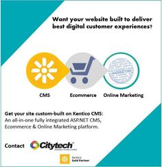 What if your site fails to deliver the best digital customer experiences? You know what'll. Allow not to happen it. Get it custom-built on Kentico CMS by Citytech Software. Visit Services http://www.citytechcorp.com/services/kentico-customizations/ and achievements in Short: http://www.citytechcorp.com/services/kentico-achievements/
