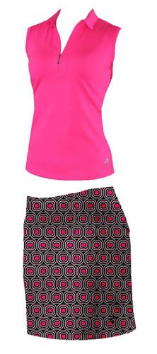 4all by JoFit Ladies Golf Outfits (Sleeveless or Short-Sleeve Shirt & Skort) - Palermo