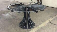 Compressor table built by Vintage Industrial Furniture