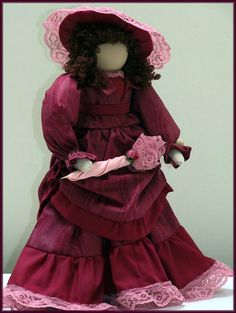Victorian Dolls, Victorian Traditions, The Victorian Era, and Me: Elizabeth Just Loves Visiting Her Cousins! - Victorian Lady Doll