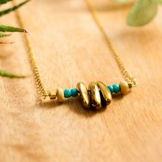 GOLD NUGGET, gold points necklace, gold quartz necklace, turquoise, hippie, boho, bohemian, native american, western, gold jasper