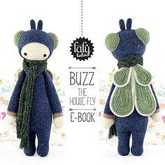"""""""BUZZ"""" - lalylala crochet pattern N° III - House Fly by Lydia Tresselt"""