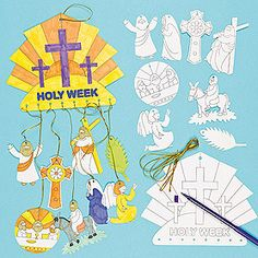 Holy Week Colour-in Mobiles