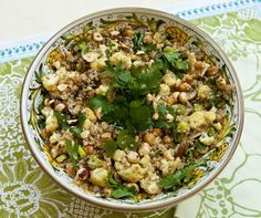Cauliflower, Mushroom, Garbanzo Bean Medley #Vegan #GlutenFree